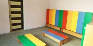 Раздевалка в детском саду Садовый